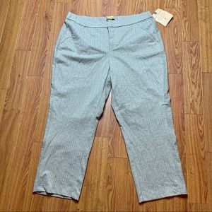 Democracy Patterned Flat Front Pants 18W T…